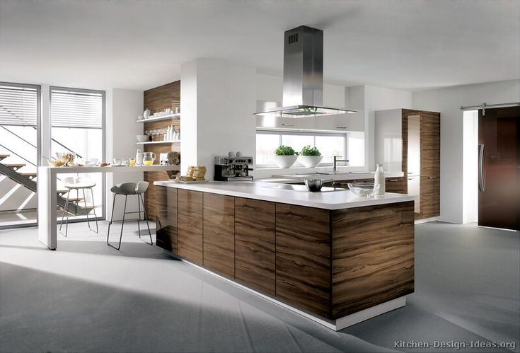 Modern White Kitchens With Wood modern dark wood kitchen cabinets #tt194 (alno, kitchen-design