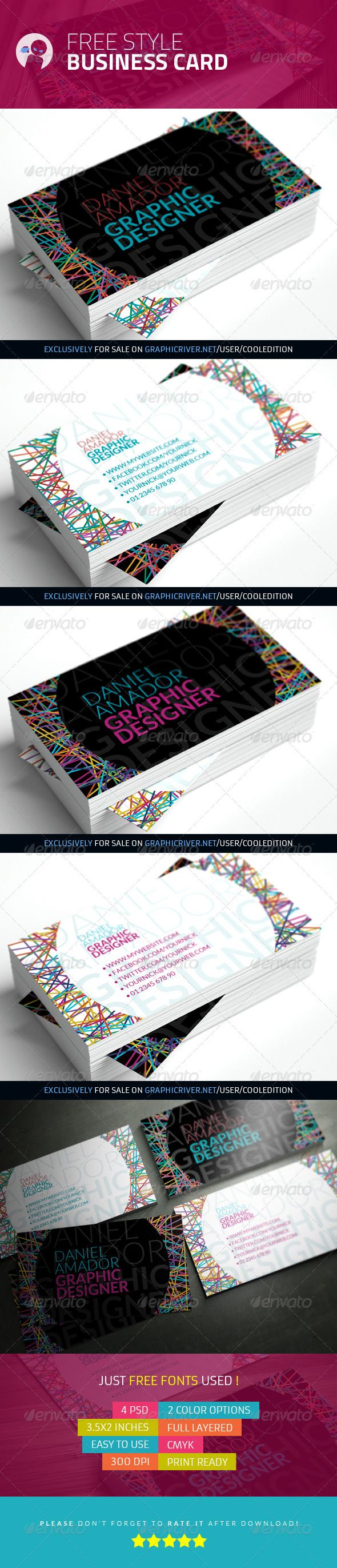 Free Style - Business Card | $6