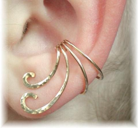 Ear Cuff - The Curl - Gold Filled or Sterling Silver - SINGLE SIDE. $23.00, via Etsy.