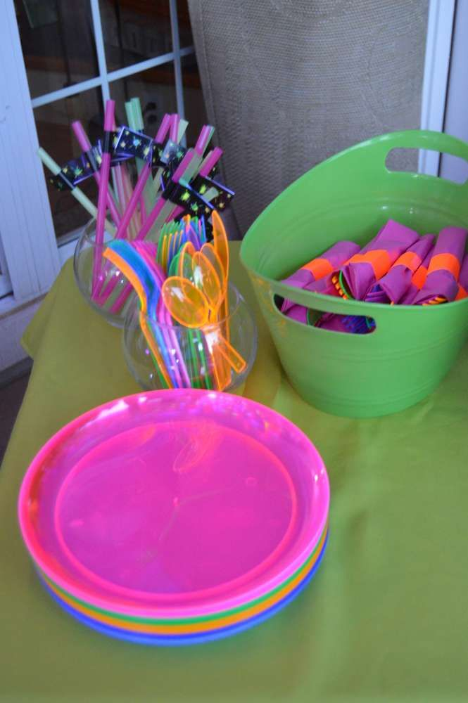 Glow Party Birthday Party Ideas | Photo 1 of 17