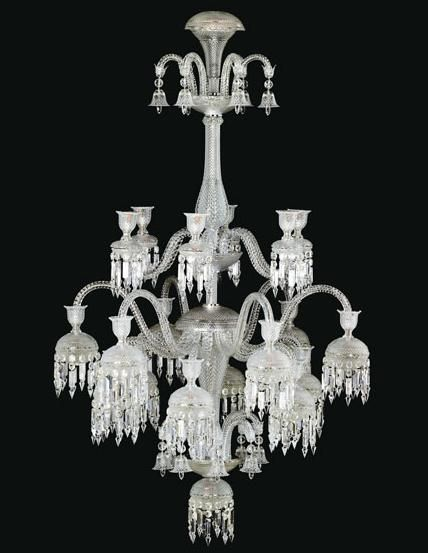 Baccarat crystal chandelier unique and dripping no pun intended with glorious crystals