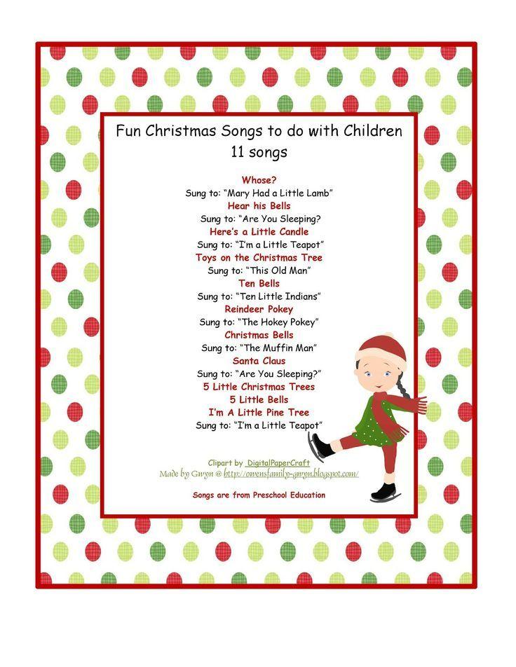 pleasing kindergarten xmas songs also preschool christmas songs