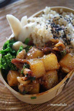 暮らしと育児 2:ストウブで大根と豚肉の炒め物