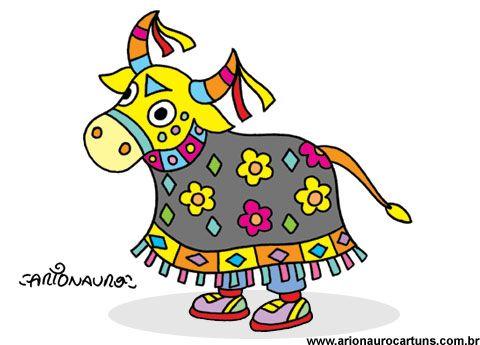 ilustração bumba-meu-boi