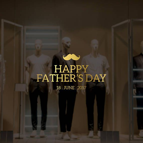 Happy fathers day moustache retail display removable