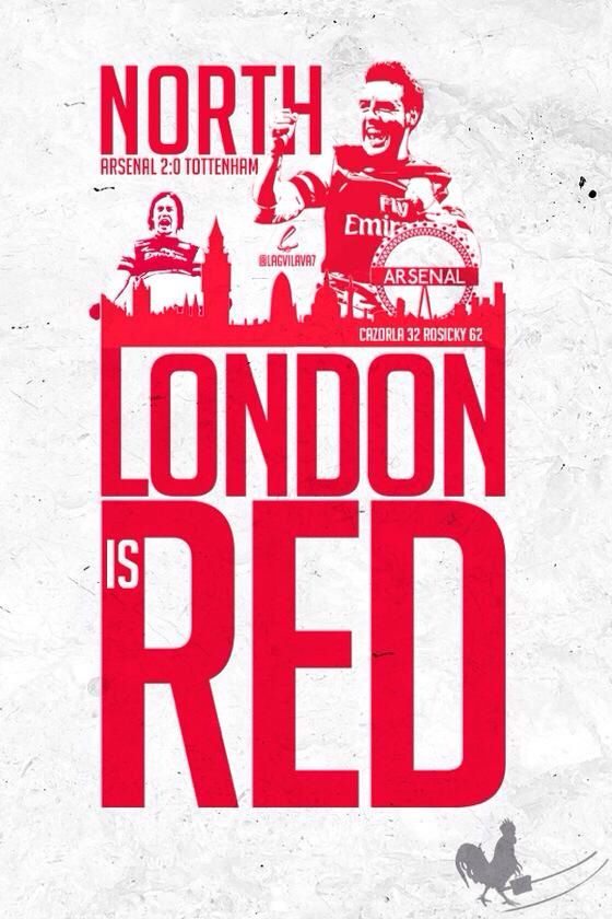 London is Red - Arsenal !!!