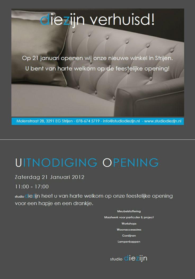 Flyer opening Studio Diezijn (stageopdracht)