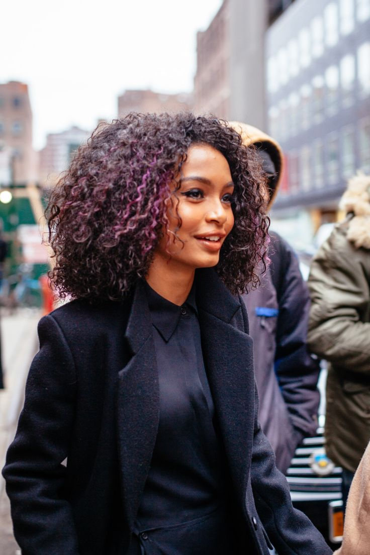 The best street style looks from NYFW Fall 2016   Purple hair