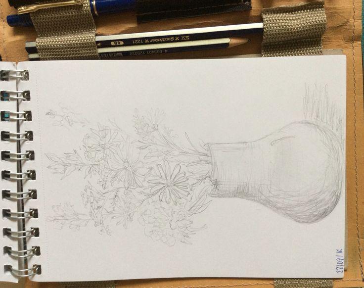 Flowers. Pencil HB.