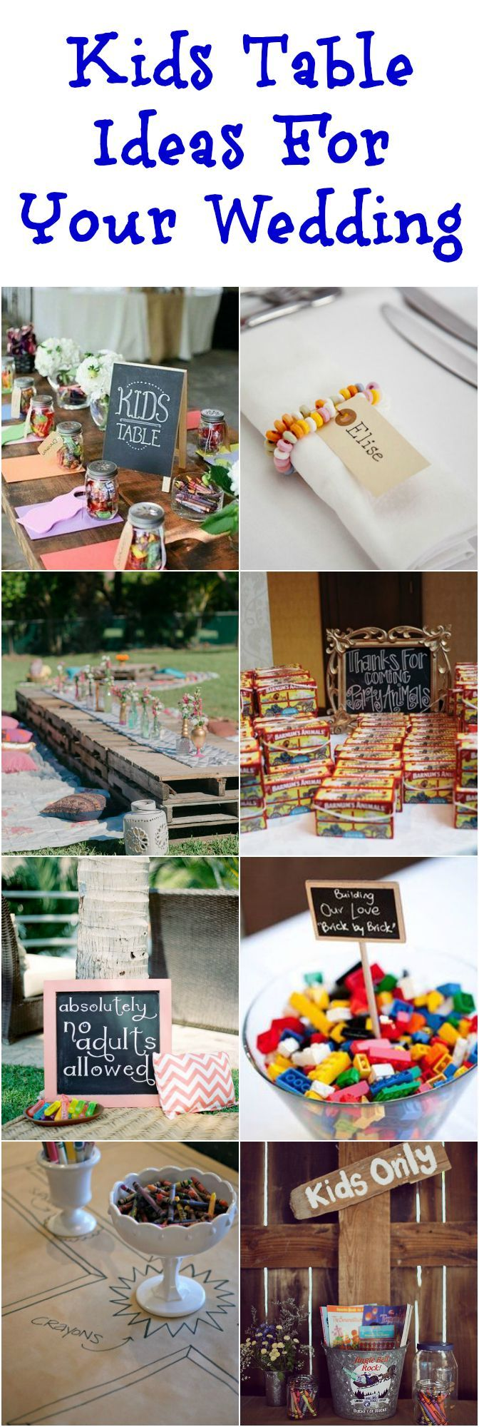 The Best Kids Table Ideas For Your Wedding – Wedding