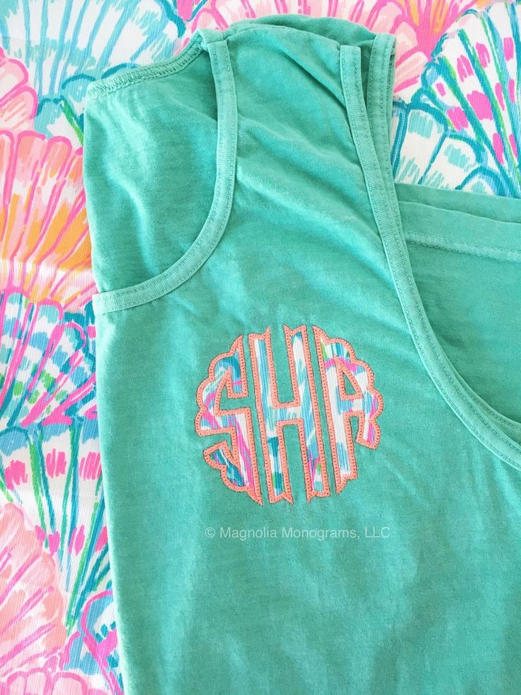 Lilly Monogrammed Comfort Colors Tank Top