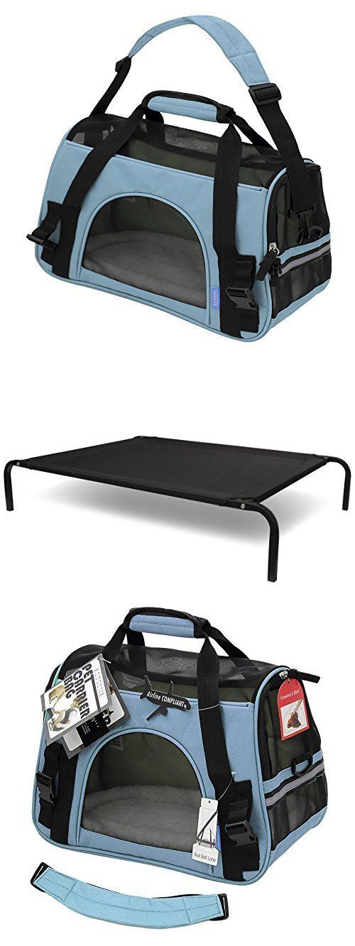 Carriers and Crates 116362: Oxgord Airline Approved Pet Carriers W Fleece Bed For Dog And Cat Mineral Blue -> BUY IT NOW ONLY: $119.95 on eBay!
