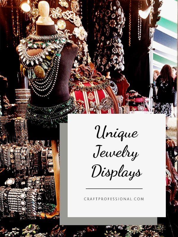 Unique Jewelry Displays – Check out photos of this all black craft show booth, a…