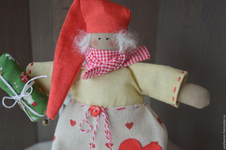 Купить Гномик Тильда - комбинированный, тильда, тильда кукла, гном, гномик, Новый Год