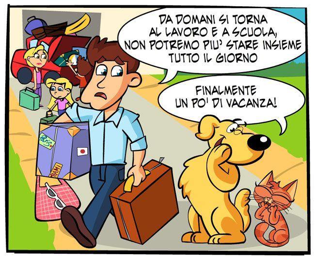 Il rientro | Fumetti Gli Inseparabili Friskies (cani, gatti, conigli, animali)