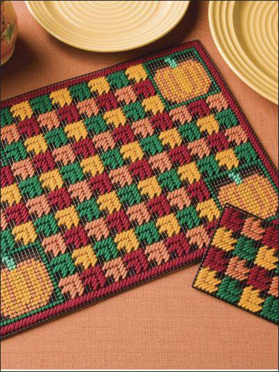 plastic canvas table mats | Home » Plastic Canvas » Holiday  Seasonal Patterns » Autumn ...