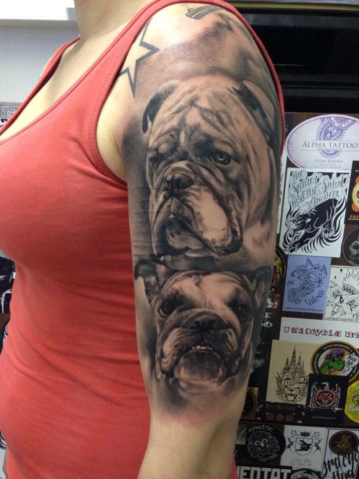 Dog tattoo by JP Wikman Bulldog tattoo