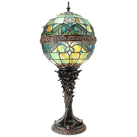 Tiffany Style 27 Quot Vivaldi Stained Glass Orb Table Lamp