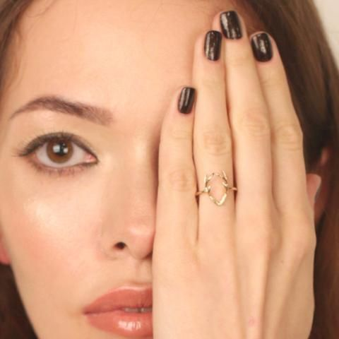 Nikita By Niki gold deer antler detail ring minimal jewellery collection arrives gift wrapped