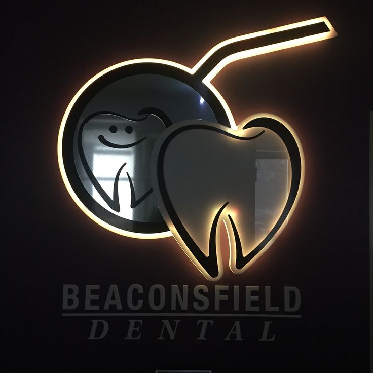 Berwick Dentists cool LED logo controlled by my iPhone.