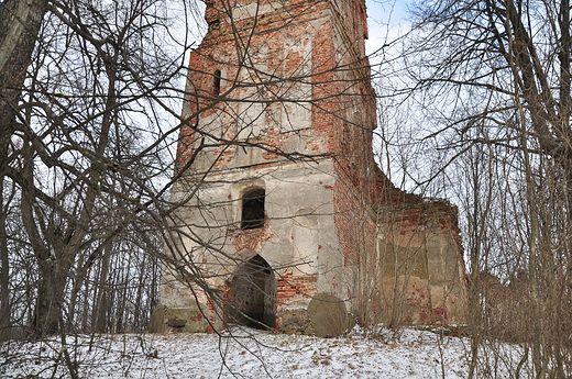 Ruiny kościoła w Mieruniszkach. Ruine der Kirche in Merunen, Kreis Treuburg