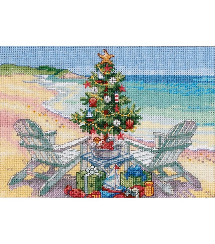 Gold Collection Petite Christmas On The Beach Counted Cross Stitch Kit at Joann.com