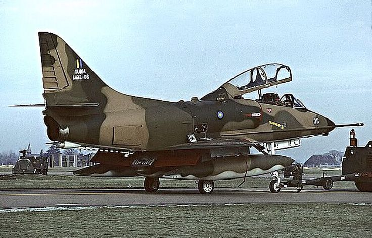 Royal Malaysian Air Force Douglas A-4 Skyhawk getting towed.