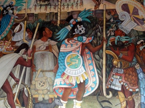 34 best images about pre hispanic god goddes on pinterest for Diego rivera day of the dead mural