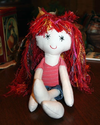This readheaded tomboy ragdoll is the perfect gift for your little tomboy :)