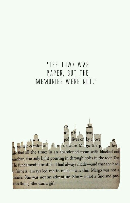 Paper towns is a beautiful book wow.