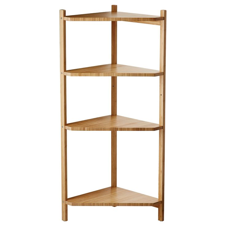 r grund corner shelf unit bamboo breezeway corner shelving unit and plants