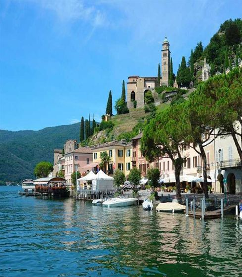 Wonderful Shores of Lake Lugano - Switzerland