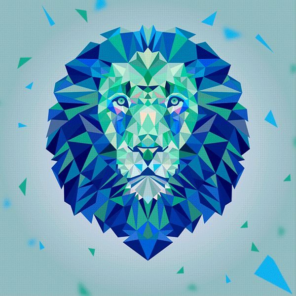 THE LION ORIGAMI by Daniel Andrew Hidalgo Cerna, via Behance