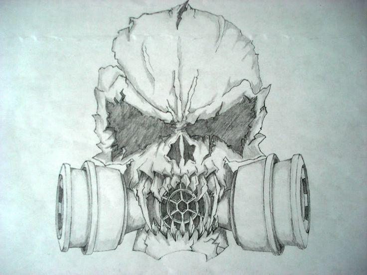 Scary Skull Drawings | Evil Skulls Drawings Bucket Pic #14 ...