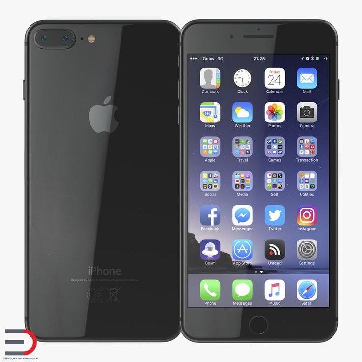 iPhone 8 Plus Black 3D model