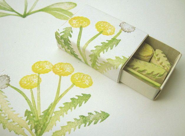 Pflanzen - AprilWiese - Stempel | Löwenzahn - ein Designerstück von BuchenStab bei DaWanda