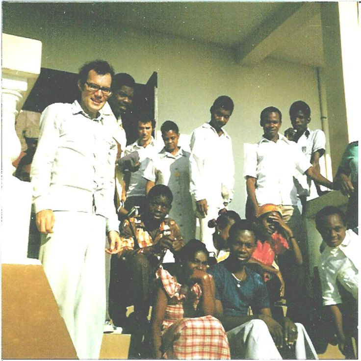 Robert Larouche and the first L'Arche community in Haiti.