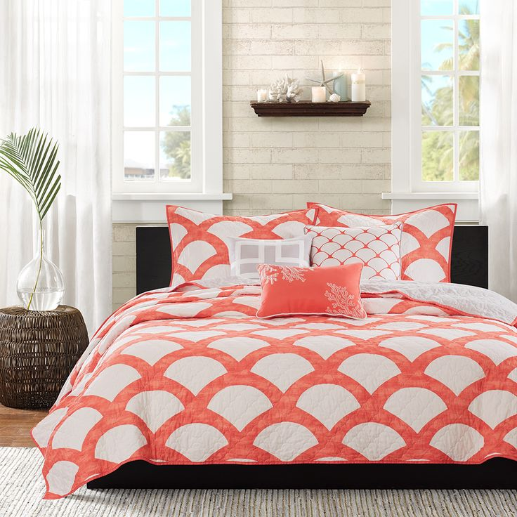 183 Best Orange Coral Yellow Bedroom Images On Pinterest: 17 Best Ideas About Coral Bedding On Pinterest