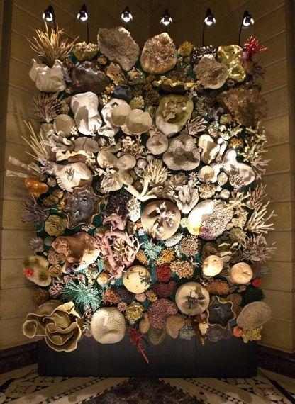 courtney mattison ............ handmade ceramic coral reef sculpture