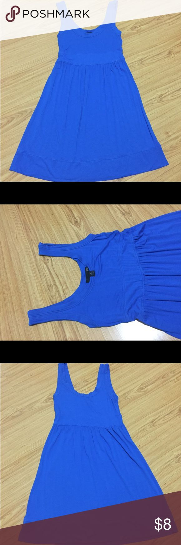 """BOGO- F21 Blue Dress Buy one get one FREE on all dresses !!! Buy 1 dress, get 2nd dress equal or lesser value for FREE! Please message me on what dresses you like so I can bundle for you. Bundle more to save on shipping cost...... Fast shipping!!  Forever 21 (XXI) Beautiful blue color knee length dress. Size: Small.... can dress up with a pair of heels or simply sandals/tennis for casual wear. Measure: from underarm down is 25"""". Forever 21 Dresses Mini"""