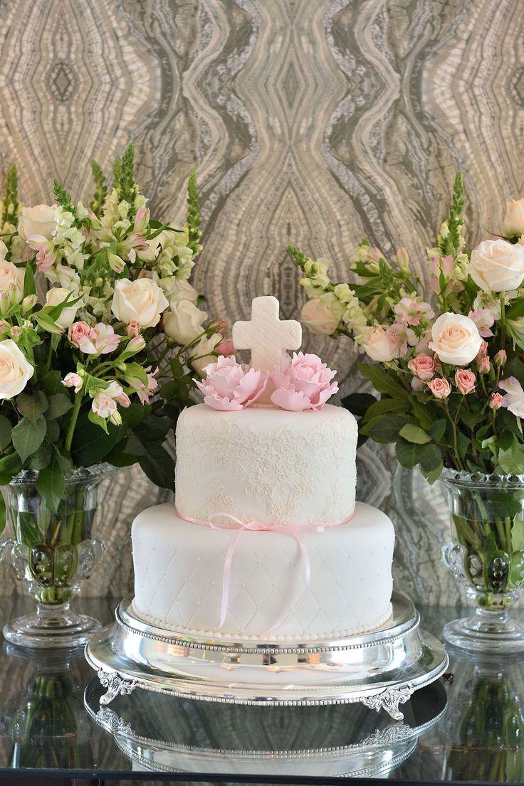 Pastel para Bautizo de nia Baby girl baptism cake  bautizo  Bautizo Decoraciones bautizo