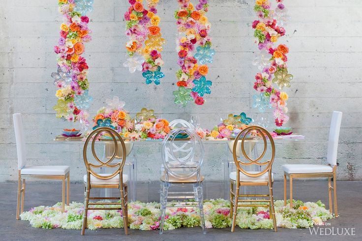 Fiori di Vetro |This Glitterati Style File from the current issue of WedLuxe Magazine (Vancouver & Western Canada edition) is bursting with bright blooms!|  Photography by: Jasalyn Thorne Photographers