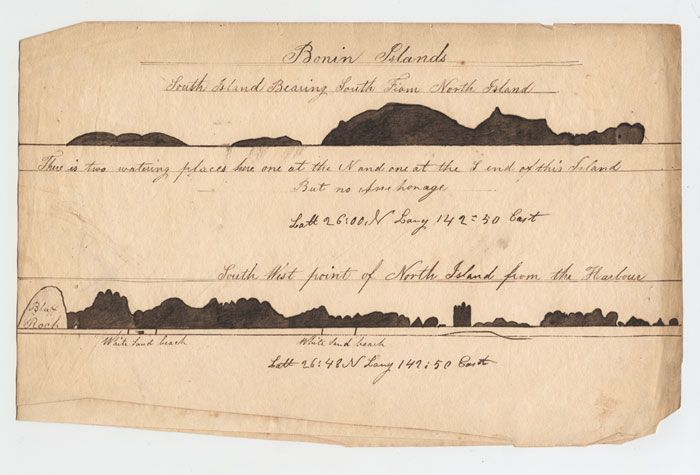 Lewis Monto - Landfalls for the Bonin Islands, c.1832