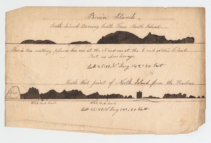Lewis Monto - Landfalls for the Bonin Islands, c.1832