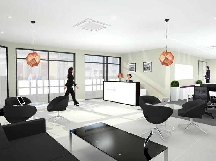 Estate Agent Reception Refurbishment Rendered Visual Five Interiors