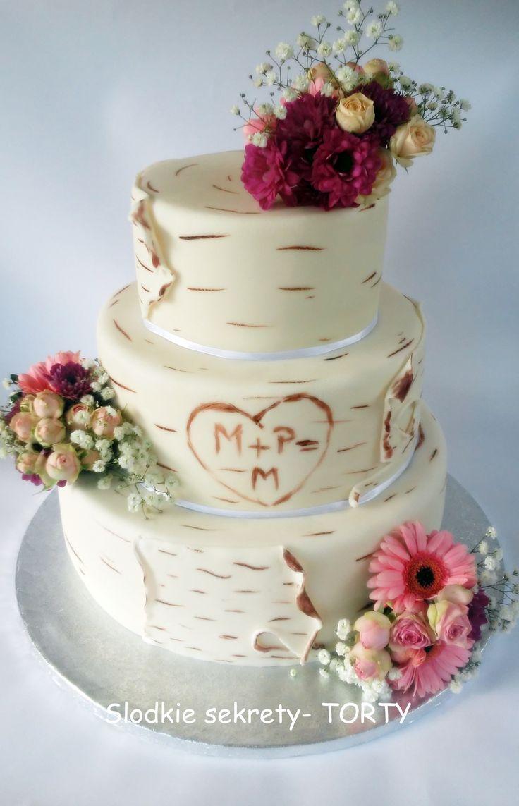 Birch Weddind cake flower