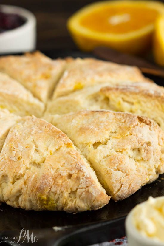 Mascarpone Cheese Scones have a subtle orange and butter flavor. The texture is soft and dense inside with flaky, crispy outside and corners.