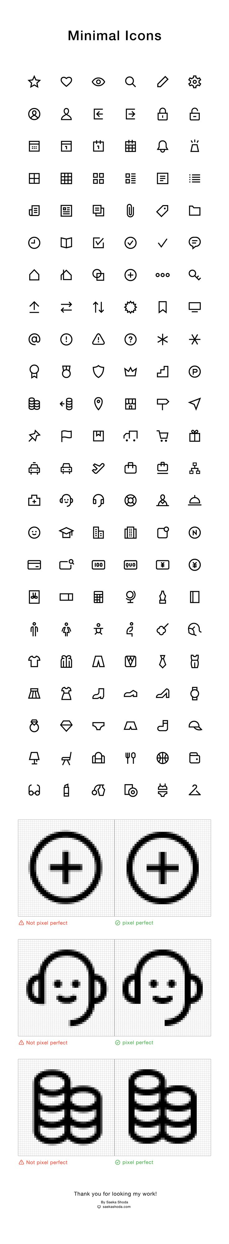 Works | Minimal Icons on Behance By Saeka Shoda