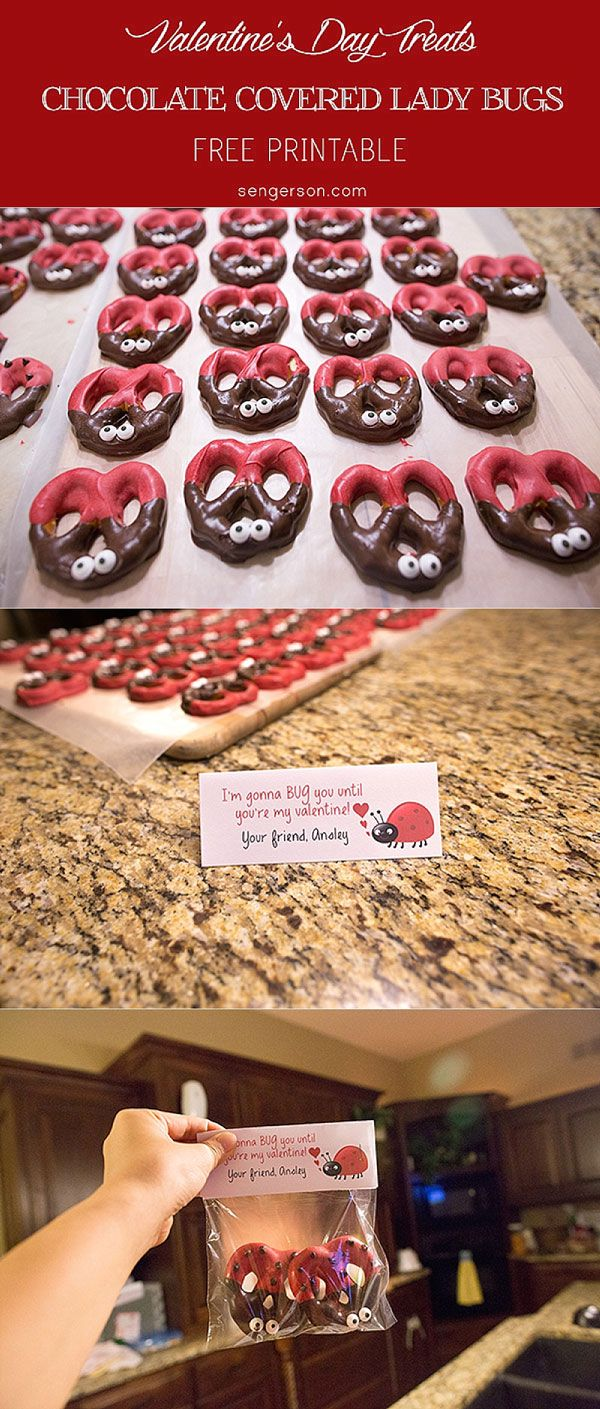 Ladybug pretzels - so easy to make and an instant hit for Valentine's Day parties.