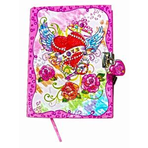 journals and diaries for girls | Girls Tattoo Heart Peacce Love Diary with Fancy Lock and Keys